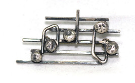 Handmade Solid Sterling Silver Music Bar Notes Brooch Pin , One of a Kind - $79.19