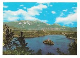 Slovenia Yugoslavia Lake Bled Island Julian Alps Foto Hribar Postcard 4X6 - $4.99