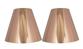 Urbanest Set of 2 Metallic Hardback Chandelier Lamp Shade, 3-inch by 6-inch by 5 - $15.83