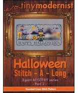 Halloween Stitch-A-Long Part 2 cross stitch chart Tiny Modernist  - $3.00