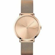 Lacoste Moon Quartz Movement Rose Gold Dial Ladies Watch 2001028 - $229.08