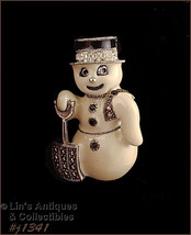 Eisenberg Signed Snowman with Shovel Pin (#J1341) - $31.51 CAD