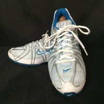 Nike Max Air Women's Blue & White Athletic Running Shoes - Size 6Y (US 7.5M) - $18.99