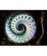 "Zoetrope Felt Turntable Slipmat ""Nautical Organic Spiral"" - $20.00"