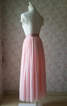 Floor Length Pink Tulle Skirt Pink Bridesmaid Tulle Skirt Plus Size image 3