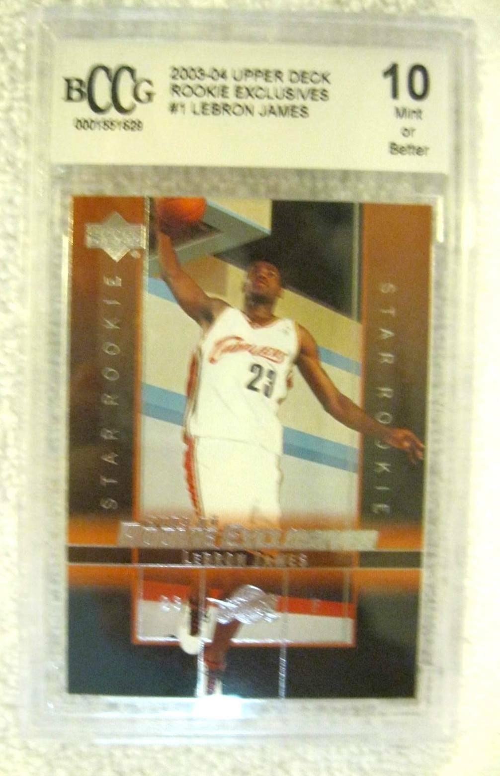 Lebron James RC 2004 Fleer USA Rookie Card GEM BGS 9.5! Cavaliers RC image 12