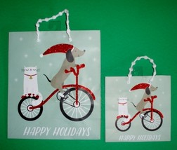Set of 2 Dachshund & Cat Christmas Holiday Gift Bags - $11.00