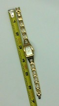 Fossil F2 Gold Tone Link Watch Rectangle Face ES-9546 New Battery - $12.86