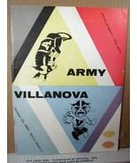 Official Program NCAA Football Army vs Villanova October 22, 1960 Michie... - $26.99