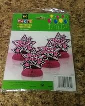 4 Happy Birthday Pink Star Honeycomb Centerpieces  - £1.07 GBP