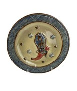 """Canyon Ranch Collection 9"""" Small Round Plate Cowboy Boot Stars Design - $9.90"""
