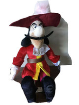 "Disney Store Captain Hook Plush Stuffed Doll Toy Peter Pan Character 24"" Gg - $20.69"