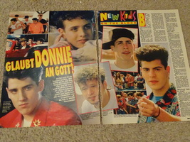 New Kids on the block teen magazine pinup clipping playing pool vintage bravo - $1.50