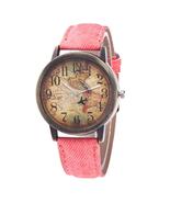 Ladies Watches Fashion Vintage World Map Printing Women Watches TkHirmol... - $12.99