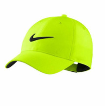 NEW! NIKE Tech Swoosh Golf Cap Pro Tour Hat-Volt/Black Embroidered Black... - $44.43