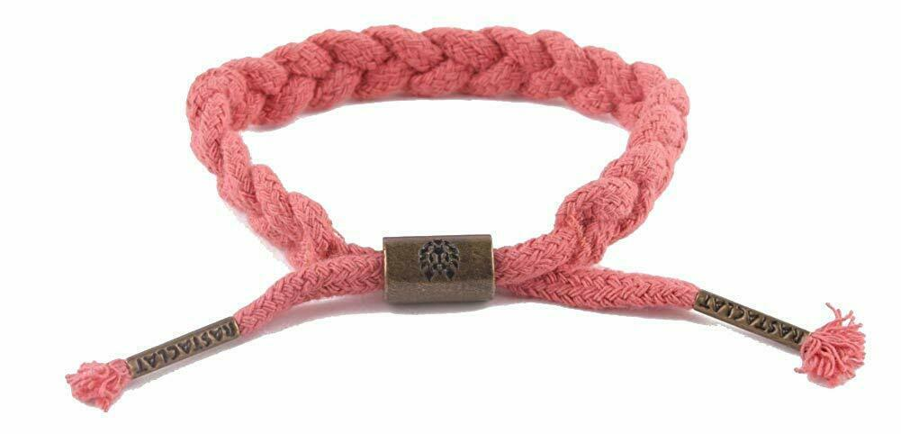 Rastaclat Hemp Ruby Red Braided Shoelace Bracelet Wristband Rare Deadstock NEW