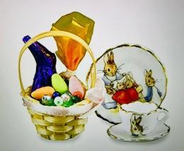 Miniature 1:12 Scale Easter Basket 3-PIECE Set By Reutter Porzellan Bnib - $28.54