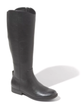 Universal Thread Women's Brisa Tall Black Faux Leather Zippered Riding Boots NWT image 1