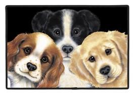 """Peeking Puppies Dog Doormat door mat Fiddlers Elbow 18"""" x 27"""" durable - $22.99"""