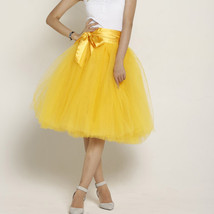 Women PEACH PINK Tulle Skirt 6 Layer Knee Length Tulle Skirt Midi Cocktail Skirt image 7