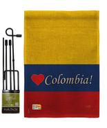 Colombia Burlap - Impressions Decorative Metal Garden Pole Flag Set GS10... - $33.97
