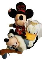 Rare Disney Mini Bean Bag Plush Millennium Set Donald Goofy Mickey Mouse 3 in 1 - $23.27