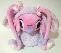 Disney Store Angel Easter Bunny Rabbit Plush Lilo & Stitch Pink Experime... - $32.73