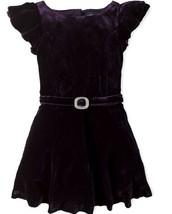 Ralph Lauren Girls' Velvet Flutter-Sleeve Dress, Purple, Size 3/3T, MSRP... - $69.29