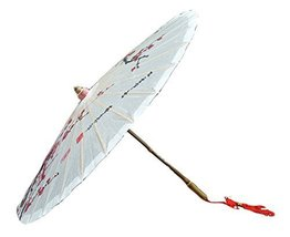 [Plum Blossom] Handmade Chinese oil paper umbrella 33 inches in Diameter
