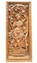 Vintage Goddess Wooden Wall Panel Hand Carved Sculpture Home Décor Art U... - $812.44