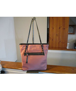Authentic Michael Kors Leila Rose Pink Large Nylon Tote Bag New With Tag - $153.44