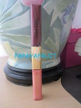 New Estee Lauder Pure Color Shimmer Lip Gloss Duo ~PINK KISS and PLUM DI... - $16.82