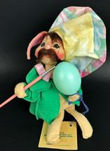"1994 Annalee 6"" Easter Egg Painter Moustache Bunny Rabbit Artist original Tag - $25.17"