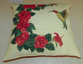 Red Green Hummingbird Print Pillow  17 x 17 - $34.95