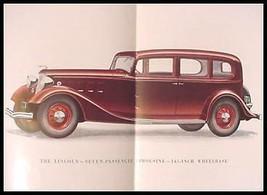 "1934 Lincoln V-12 Color Brochure, 136"" 145"" Sedan Limo, Xlnt with Envelope - $43.56"