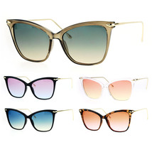 Womens Oversize Elegant Cat Eye Horn Rim Thin Plastic Sunglasses - $12.95
