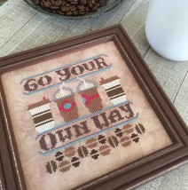 Go Your Own Way #2 Cool Beans series cross stitch chart Hands On Design  - $5.40