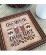 Go Your Own Way #2 Cool Beans series cross stit... - $5.40