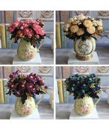 Hot Realistic 6 Branches Blue Autumn Artificial Fake Peony Flower Arrang... - $2.46