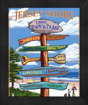 Jersey Shore 13 x 16 Lantern Press Artwork Framed Print - $39.95
