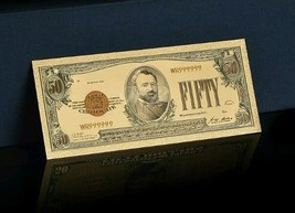 "<GEM CONDITION>1928 ""GOLD CERTIFICATE""$50 GOLD Rep.* Banknote W/COA~U.S SE - $11.82"