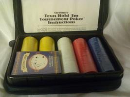 Cardinal's Texas Hold'em Professional POKER TRAVEL SET, Black Zipper Cas... - $19.99