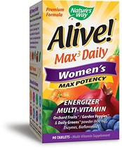 Nature's Way Alive!® Max3 Daily Women's Multivitamin, Food-Based Blends 1,130mg