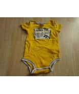 Infant/Baby Iowa Hawkeyes 6/9 Mo Creeper One-Piece Fan Checklist (Yellow... - $7.69