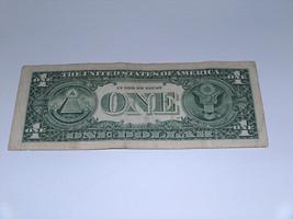 2006 $1 Dollar Bill US Bank Note Date Year Birthday 0468 1954 Fancy Money Serial image 2