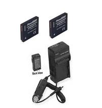 Two 2 Batteries + Charger For Panasonic DMC-FX40R DMC-FX40W DMC-FX40EB-K - $39.54
