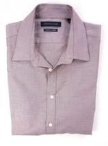 NEW TOMMY HILFIGER AUBERGINE DARK RED ATHLETIC FIT STRETCH DRESS SHIRT 1... - $21.77