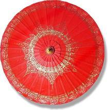 Red Traditional Thai Umbrella Fashion Umbrellas - $28.95
