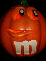 Vintage TRENDMASTERS M&M Mars Halloween Lighted Pumpkin With Cord ORANGE... - €26,24 EUR