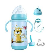 Vermida Toddler Sippy Cup with Straw,4 in 1 Insulted Baby Water Bottle w... - $24.70